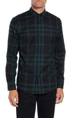 Calibrate Slim Fit Plaid Flannel Sport Shirt