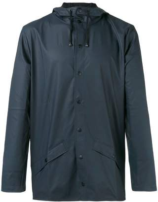 Rains button front rain jacket