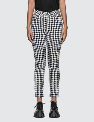Alexander McQueen Allover Houndstooth Denim Jeans