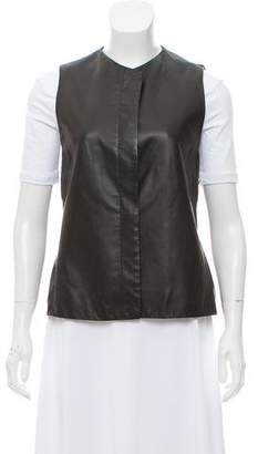 The Row Leather Button-Up Vest