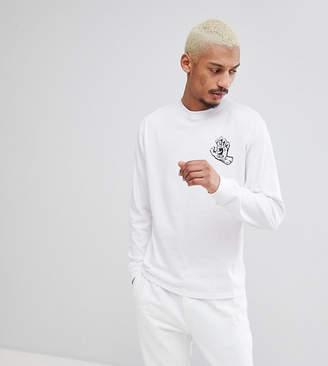 Santa Cruz Spill Long Sleeve T-Shirt In White Exclusive To ASOS