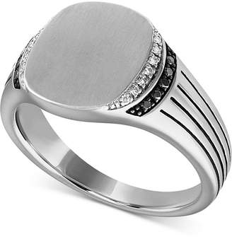 Esquire Men Jewelry Diamond Ring (1/8 ct. t.w.) in Sterling Silver