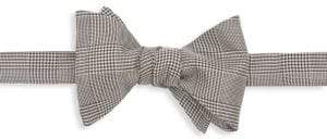 Ralph Lauren Purple Label Prince of Wales Silk Plaid Bow Tie