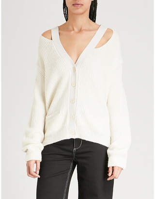 Zadig & Voltaire Rhys distressed ribbed-knit cardigan