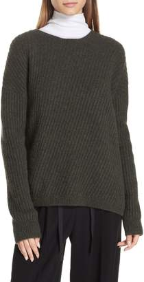 Vince Side Slit Ribbed Sweater