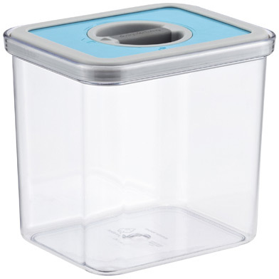 Container Store 1.9 qt. Rectangle Perfect Seal™ Canister Teal Lid