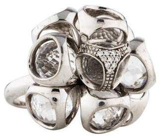 Di Modolo Icona Rock Crystal & Diamond Cluster Ring