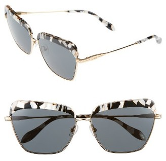 Women's Sonix Highland 61Mm Square Sunglasses - Luxe Marble/ Black Solid $98 thestylecure.com