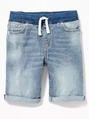 Old Navy Karate Rib-Knit Waist Denim Shorts for Boys