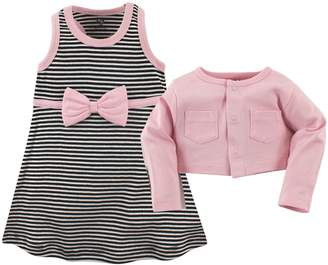 Hudson Baby Girls' Cropped Cardigan and Racerback Dress