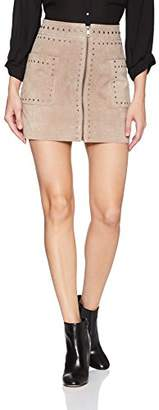 Bagatelle Women's Suede Studded Skirt