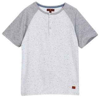 7 For All Mankind Raglan Henley Tee (Big Boys)