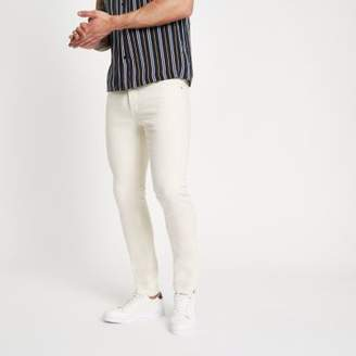 River Island Cream Sid skinny jeans