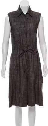 Fendi Sleeveless Button-Up Dress