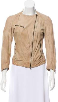 Drome Leather Zip-Up Jacket