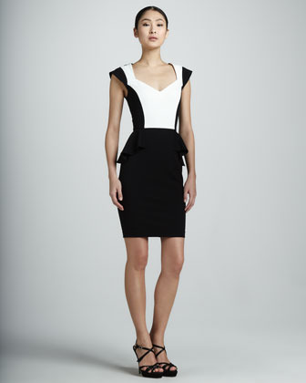 Erin Fetherston Erin by Colorblock Peplum Dress