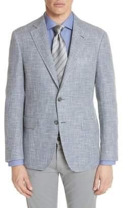 Canali Kei Classic Fit Check Sport Coat