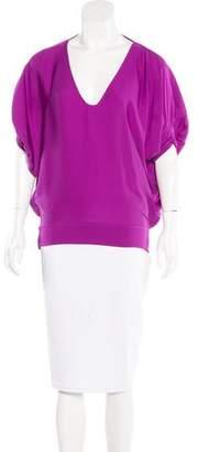 Diane von Furstenberg Silk Dolman Sleeve Top