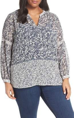 Vince Camuto Pattern Mix Peasant Top