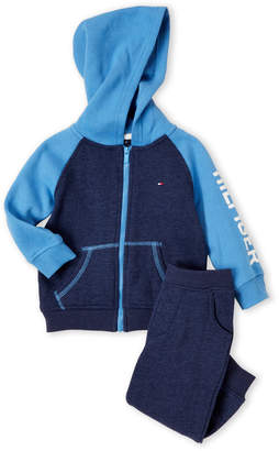 Tommy Hilfiger Infant Boys) Two-Piece Raglan Zip-Up Hoodie & Joggers Set