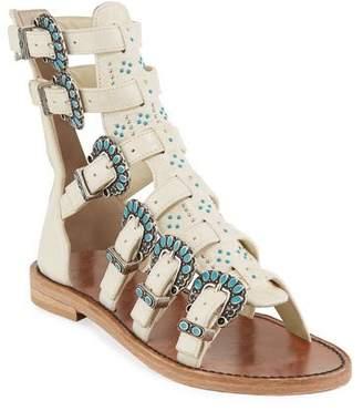 Zadig & Voltaire Capri Embellished Gladiator Sandals