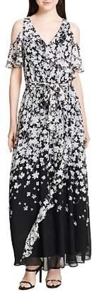 Calvin Klein Cold-Shoulder Floral-Print Maxi Dress