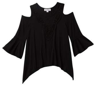 Ten Sixty Sherman Embroidered Cutout Sleeve Bell Top (Big Girls)