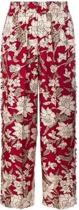 La DoubleJ floral print trousers