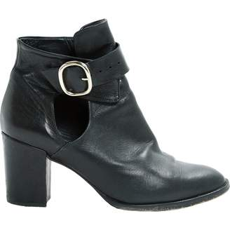 Maje Leather ankle boots
