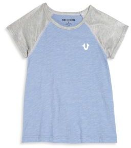 True Religion Girl's Colorblocked Graphic Tee $39 thestylecure.com