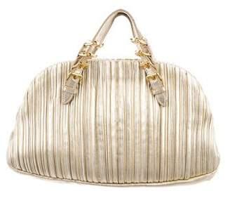 Miu Miu Box Pleated Leather Handle Bag