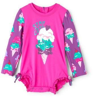 Hatley Baby Girl's Ice Cream Treats Mini Rashguard Swimsuit (Infant) 6-9