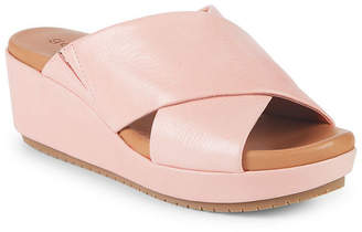 Gentle Souls Mikenzie Wedge Leather Sandal