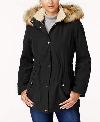 Jones New York Faux-Fur-Trim Parka $200 thestylecure.com