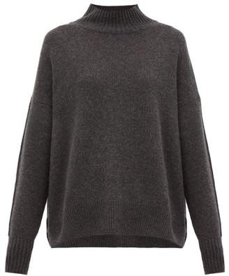 Allude High Neck Cashmere Sweater - Womens - Dark Grey