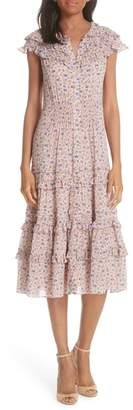 Rebecca Taylor Zelma Floral Dress