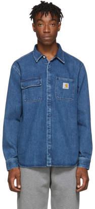Carhartt Work In Progress Blue Salinac Shirt Jacket