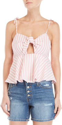 Rampage Striped Knotted Keyhole Tank