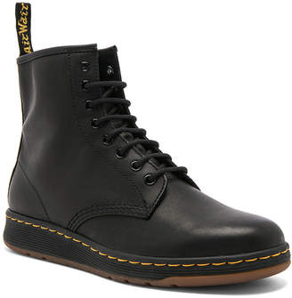 Dr. Martens Newton 8 Eye Leather Boots in Black | FWRD