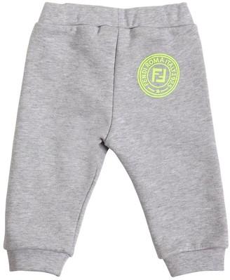 Fendi Logo Print Cotton Sweatpants