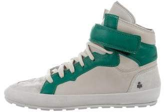 Etoile Isabel Marant Leather High-Top Sneakers