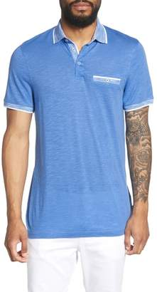 Ted Baker Dalmat Trim Fit Cotton & Modal Polo
