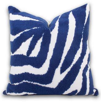8 Oak Lane Blue Zebra Pillow