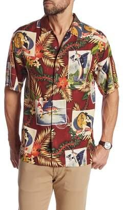 Tommy Bahama Tommy Holidays Short Sleeve Print Silk Original Fit Shirt
