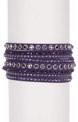 Swarovski Slake Crystal Accented Wrap Bracelet
