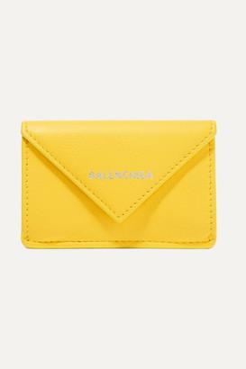 Balenciaga Papier Mini Printed Textured-leather Wallet - Yellow