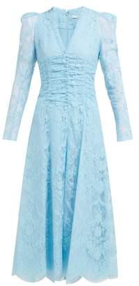 Erdem Annalee Cotton Blend Chantilly Lace Gown - Womens - Blue