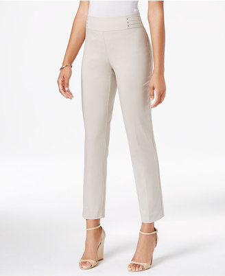 JM Collection Studded Ankle Pants, Only at Macy's $49.50 thestylecure.com