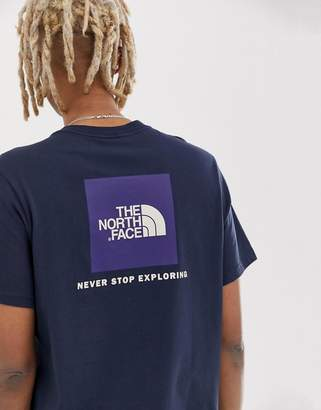 The North Face Red Box T-Shirt in Navy