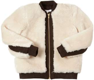Chloé Faux Shearling & Fleece Bomber Jacket